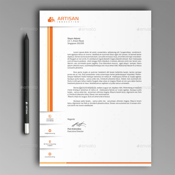 40 free premium letterhead templates in multiple formats