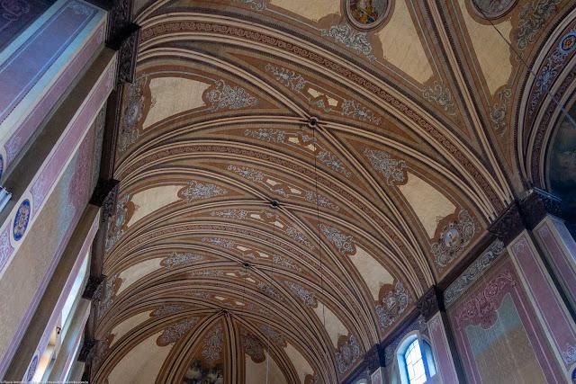 Igreja Imaculado Coração de Maria - interior - detalhe do teto