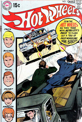 Hot Wheels v1 #3 dc 1970s bronze age comic book cover art by Neal Adams