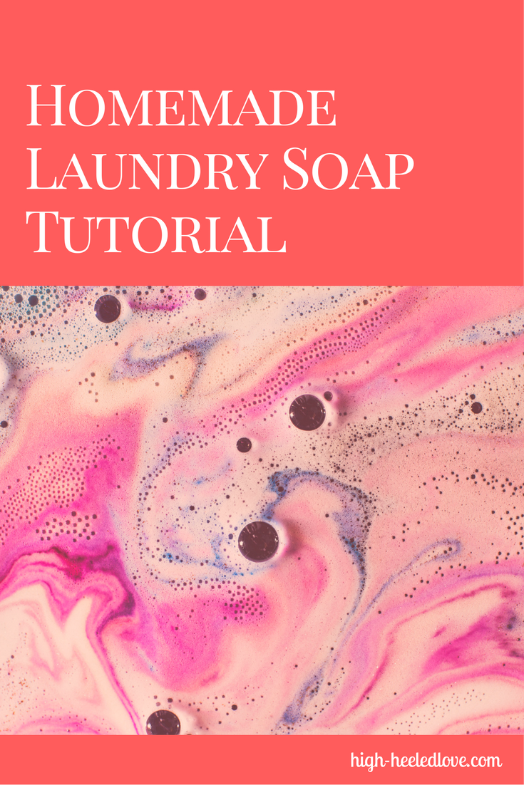 Save money in your household budget by making homemade laundry soap. This tutorial will help you quickly and cheaply make DIY laundry detergent, using items you can purchase at your local grocery store.