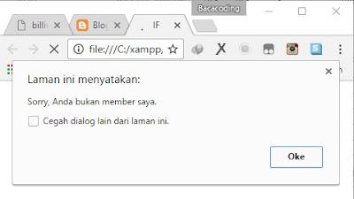 Logika IF Member Terdaftar dengan JavaScript