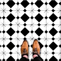 Modelos de alfombras vinilicas - Blanco y Negro