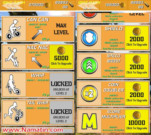 cheat bike rush unlimited gold