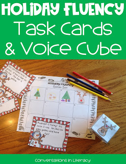 Fun Christmas Fluency Task Cards for centers