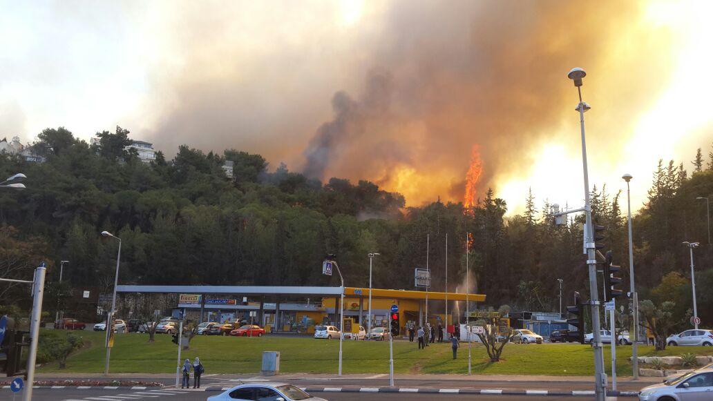 لليوم الرابع على التوالي رعب في اسرائيل .. تواصل الحرائق وإجلاء أكثر من 60 ألف إسرائيلى من منازلهم