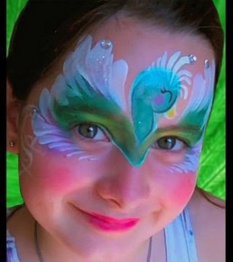 Easy Peacock Face Paint Ideas