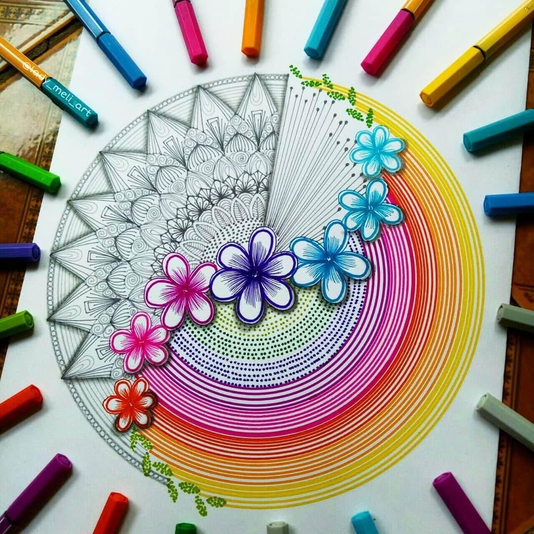 04-lady-meli-art-Colored-Pens-and-Geometric-Mandalas-Zentangles-Doodles-www-designstack-co