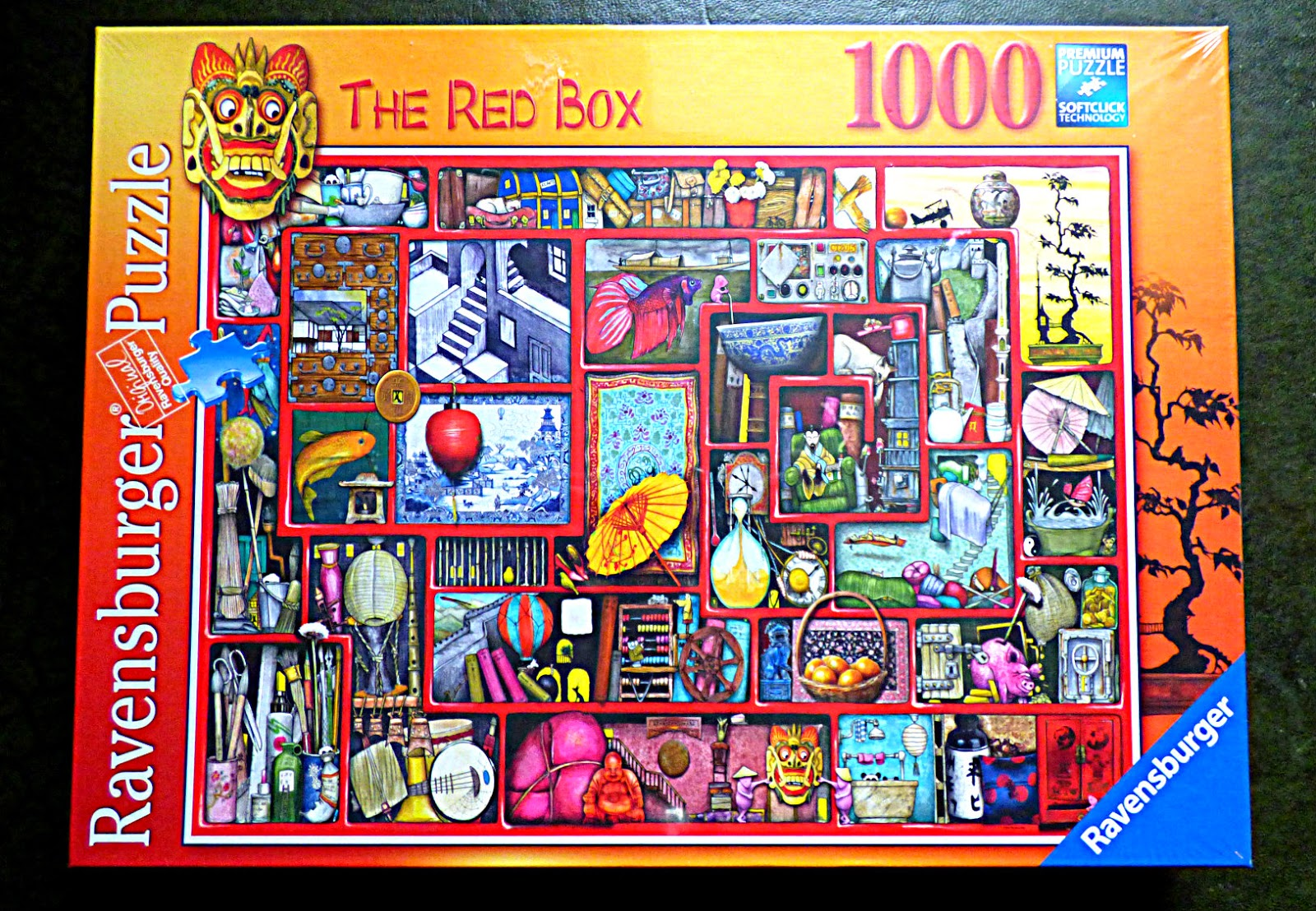 chez maximka the red box 1000 piece puzzle from. Black Bedroom Furniture Sets. Home Design Ideas