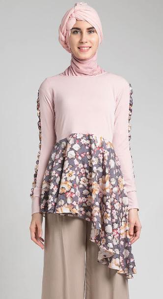 Model Baju Hamil Batik Muslim Kombinasi