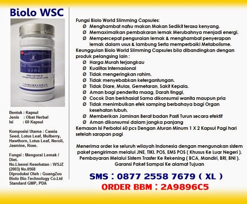 Pelangsing Biolo,Obat Pelangsing WSC Biolo,
