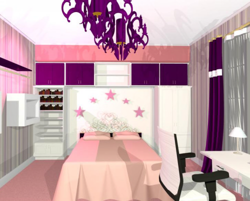 design interior dormitor barbie