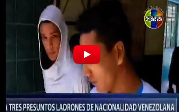 Tres venezolanos detenidos en Chiclayo, Perú tras atracar con cuchillos a un ciudadano