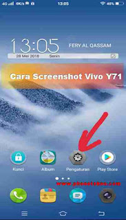 Cara Screenshot Vivo Y71