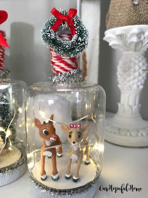 plastic mason jar Christmas ornament