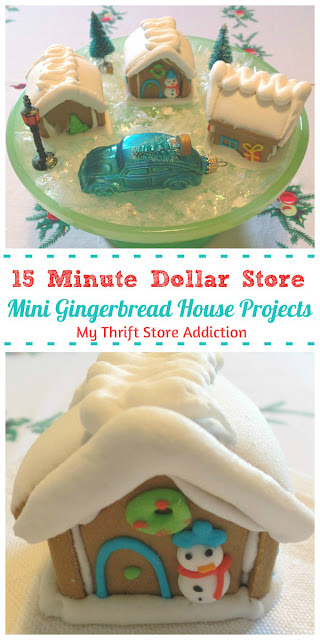 15 minute dollar store gingerbread house projects