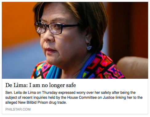 Sen. Leila De Lima and Refugee Protection in Canada