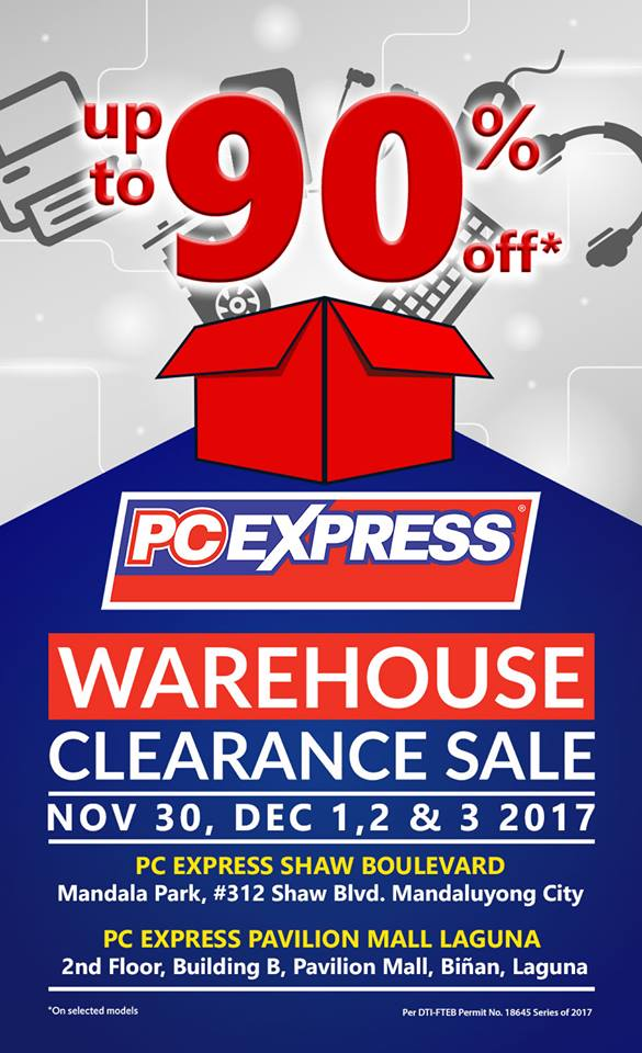 PC Express Warehouse Clearance Sale, Offers Up to 90% Off On Selected Items