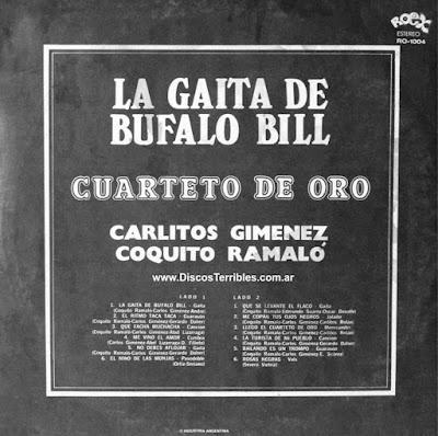 Cuarteto de Oro - La gaita de Bufalo Bill / Discos Terribles