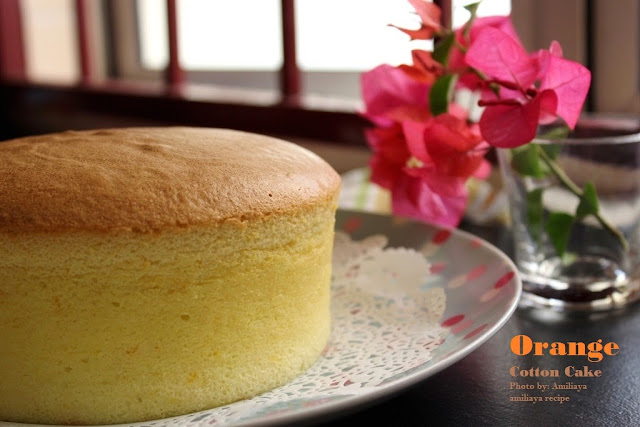 Orange Cotton Cake
