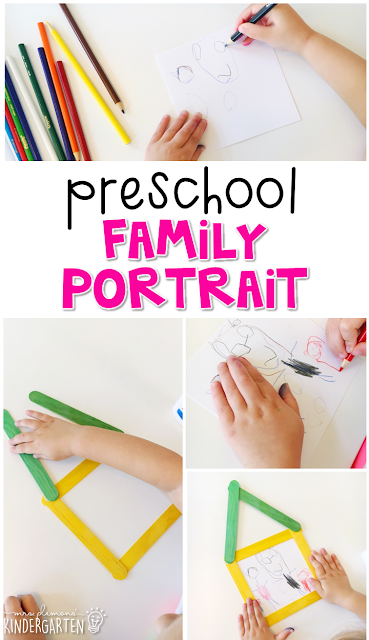 This family portrait is an adorable craft that incorporates lots of fine motor skills practice. Great for tot school, preschool, or even kindergarten!