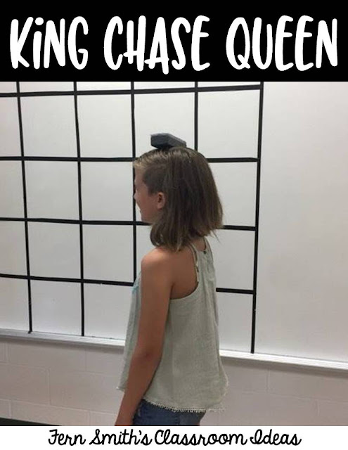 Indoor Recess Blues? Free King Chase Queen Printable Directions, Fern Smith's Classroom Ideas Indoor Recess ~ King Chase Queen FREE Directions.