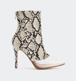 Snake booties with mesh toes from Nasty Gal