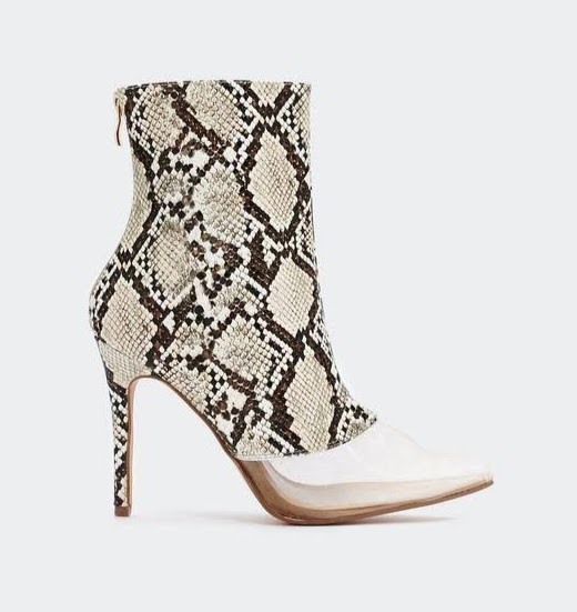 c5b4ef544 Snake booties with mesh toes from Nasty Gal