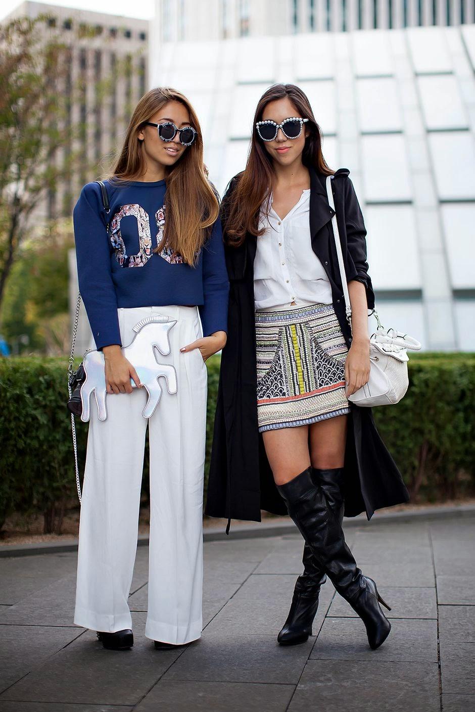 785cd2e3c090 On the street... Jenny   Linda Seoul fashion week 2014 S S ~ echeveau