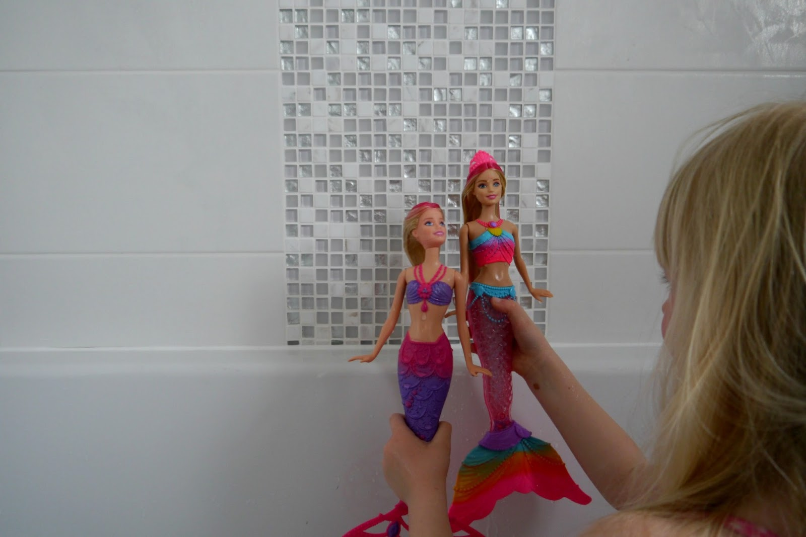 Barbie Rainbow Lights Mermaid Doll Review The Mummy Diary