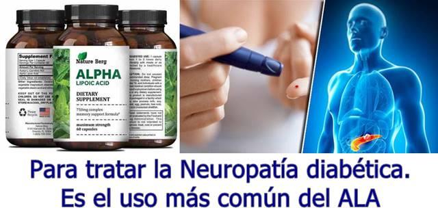 Enfermedades que son tratadas con el consumo de ácido alfa lipoico