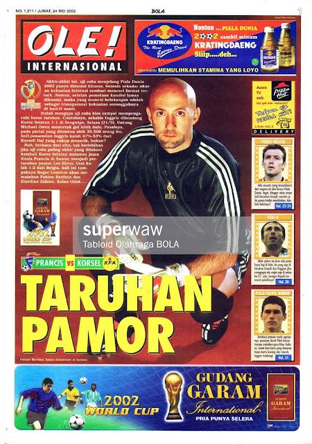 FABIEN BARTHEZ FRANCE 2002 MAGAZINE COVER