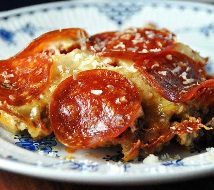 Crock Pot Crustless Pizza #lowcarb #healthymeal