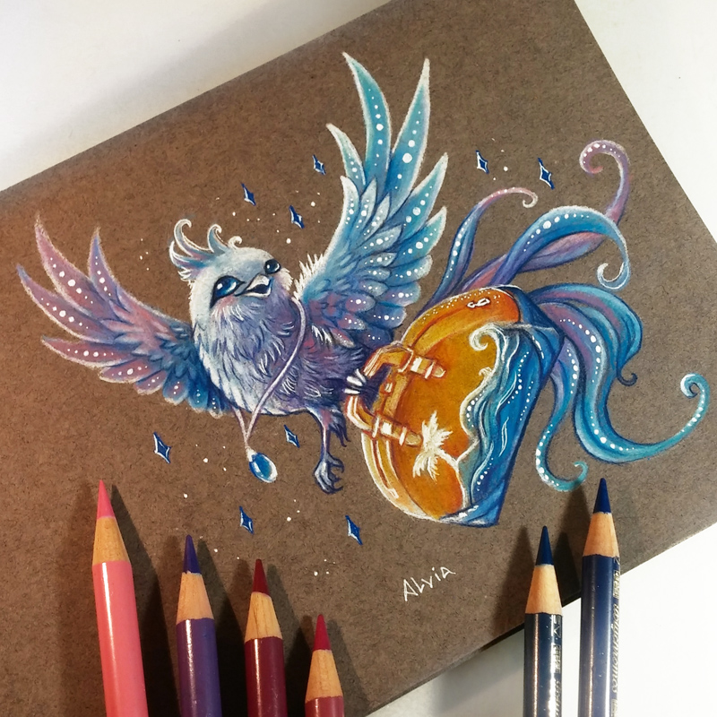 11-Travel-Bird-Alvia-Alcedo-Dragons-and-other-Mythical-Magical-Creatures-in-Fantasy-Drawings-www-designstack-co