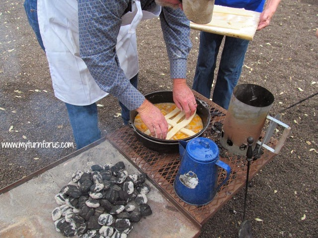 Texas Dutch Oven Peach Cobbler Camping Recipes