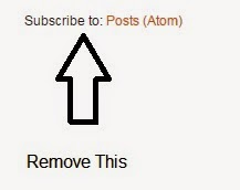 How To Remove Subscribe To : Posts(Atom) From Blogger