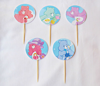 care bears cupcake toppers for kids party supplies birthday party nursery domum vindemia