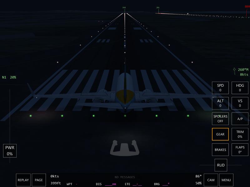 Nuit à Paris Charles de Gaulle Infinite Flight