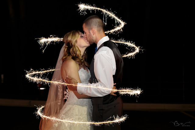 sparkler grand exit at Noah's Event Venue in Auburn Hills Michigan