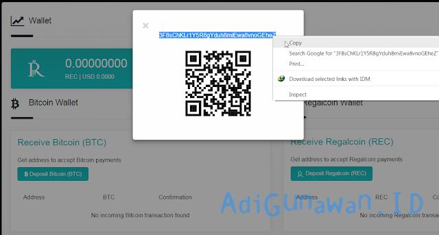 Kirim bitcoin dari wallet ke wallet regalcoin