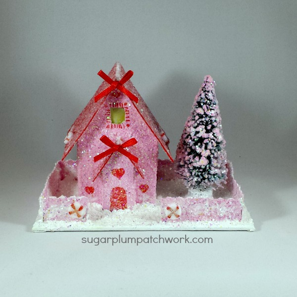 pink and red glitter house