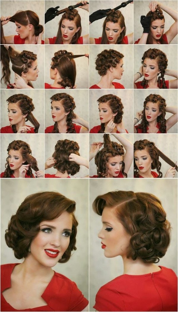 12.DIY  UP CURL UPDOS FOR MEDIUM LENGTH HAIR