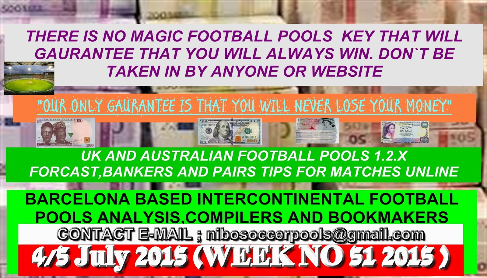 Week 51 australia pool result