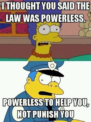 Funny quote image from officer Wiggum