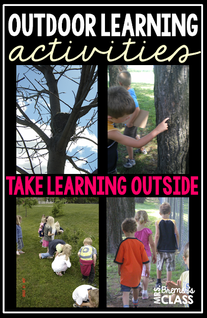 4 FREE scavenger hunts to take learning outside!