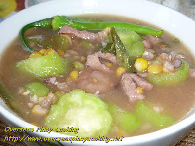 Sweet Corn and Luffa Vegetable Soup