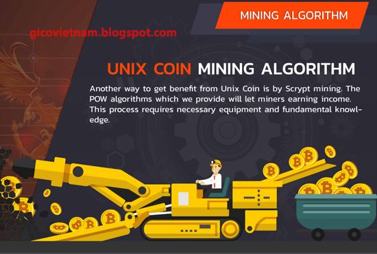 unix coin đào coin