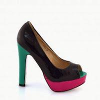 Pantofi dama negri piele eco