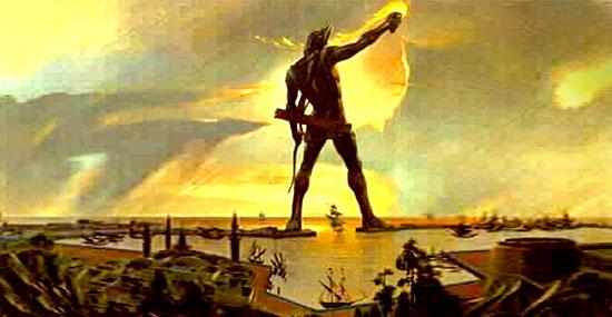 Estátua gigantesca destruída - O Colosso de Rodes está voltando...