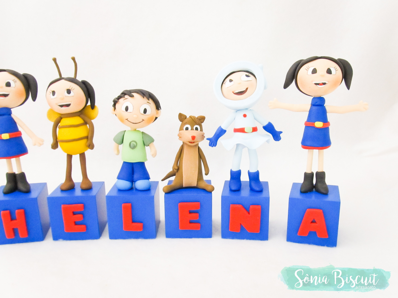 Cubos, Cubos Decorativos, Biscuit, Sonia Biscuit, Luna, Show da Luna