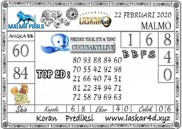 Prediksi Togel MALMO LASKAR4D 22 FEBRUARI 2020